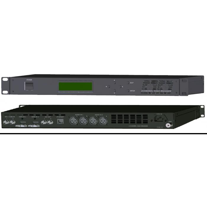 2х-канальный MPEG4/AVC-MPEG2 IP кодер-транскодер